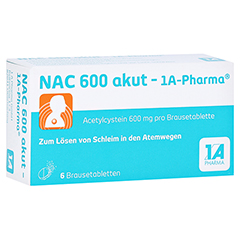 NAC 600 akut-1A Pharma 6 Stück