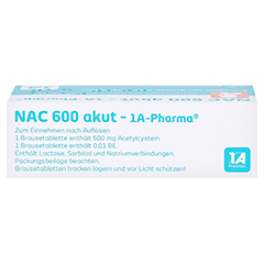 NAC 600 akut-1A Pharma 6 Stück - Oberseite