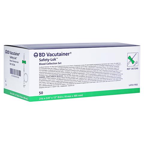 BD VACUTAINER Safety Lok Sicherh.Punkt.Best.grün 50 Stück