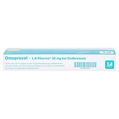 Omeprazol-1A Pharma 20mg bei Sodbrennen 14 Stück - Unterseite