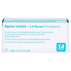 Agnus castus-1A Pharma 100 Stück N3 - Unterseite