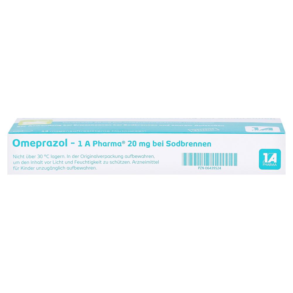 omeprazol 1a pharma 20mg bei sodbrennen 14 st ck online bestellen medpex versandapotheke. Black Bedroom Furniture Sets. Home Design Ideas
