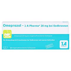 Omeprazol-1A Pharma 20mg bei Sodbrennen 14 Stück - Vorderseite