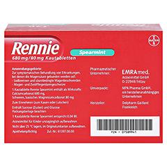 Rennie Spearmint 120 Stück - Rückseite