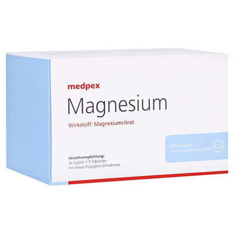 medpex Magnesium Dragees 40mg 200 Stück