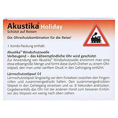 AKUSTIKA Holiday Windschutzwolle+Lärmschutzstöp. 1 Packung - Rückseite