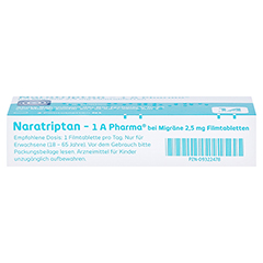 Naratriptan-1A Pharma bei Migräne 2,5mg 2 Stück N1 - Unterseite