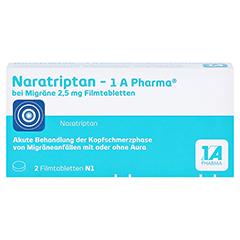 Naratriptan-1A Pharma bei Migräne 2,5mg 2 Stück N1 - Vorderseite