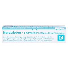 Naratriptan-1A Pharma bei Migräne 2,5mg 2 Stück N1 - Oberseite