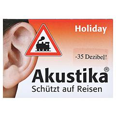AKUSTIKA Holiday Windschutzwolle+Lärmschutzstöp. 1 Packung - Vorderseite