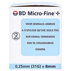 BD MICRO-FINE Pen-Nadeln 0,25x8 mm 110 Stück - Rechte Seite