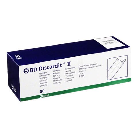 BD DISCARDIT II Spritze 20 ml 80x20 Milliliter
