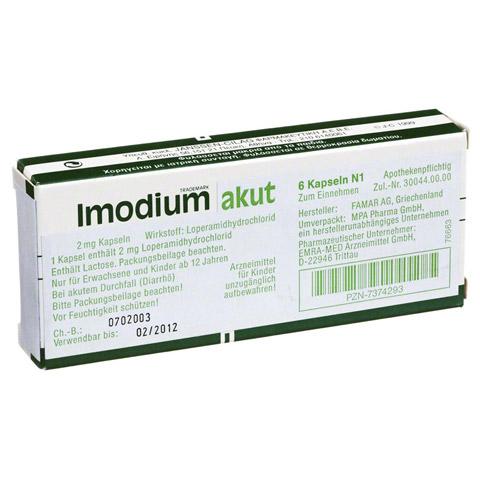 Imodium akut 6 Stück
