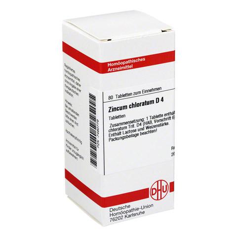 ZINCUM CHLORATUM D 4 Tabletten 80 Stück N1