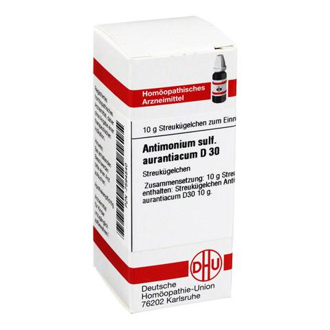 ANTIMONIUM SULFURATUM aurantiacum D 30 Globuli 10 Gramm N1