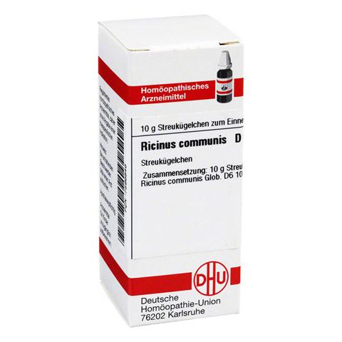 RICINUS COMMUNIS D 6 Globuli 10 Gramm N1
