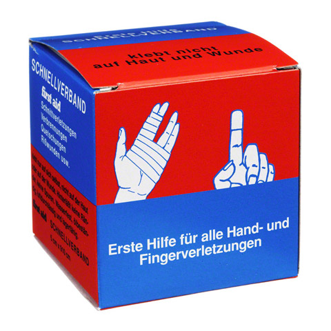 erfahrungen zu first aid 5 cmx9 1 m schnellverband 1 st ck medpex versandapotheke. Black Bedroom Furniture Sets. Home Design Ideas