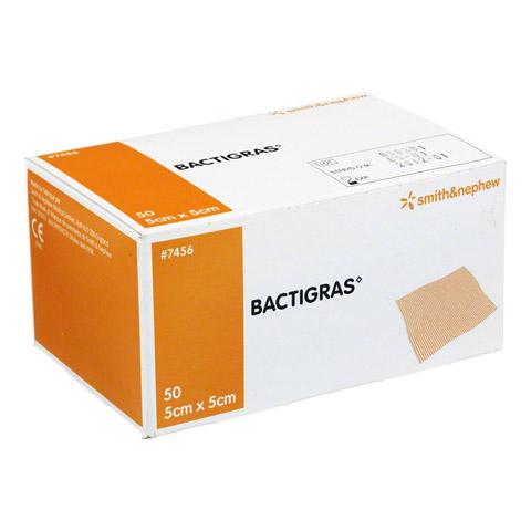 BACTIGRAS antiseptische Paraffingaze 5x5 cm 50 Stück
