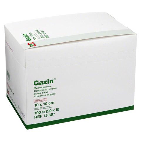 GAZIN Mullkomp.10x10 cm steril 12fach groß 20x5 Stück