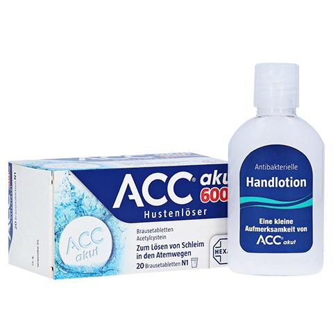 ACC akut 600mg Hustenlöser + gratis Handdesinfektionslotion ACC akut 20 Stück N1