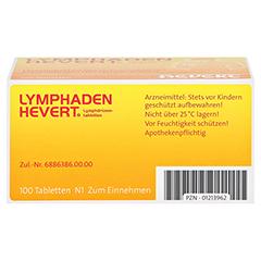 LYMPHADEN HEVERT Lymphdrüsen Tabletten 100 Stück N1 - Unterseite