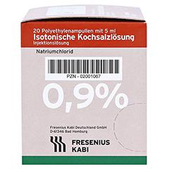 ISOTONISCHE Kochsalzlösung 0,9% Plastikampullen 20x5 Milliliter N3 - Rechte Seite