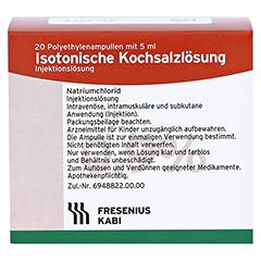 ISOTONISCHE Kochsalzlösung 0,9% Plastikampullen 20x5 Milliliter N3 - Vorderseite