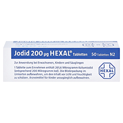 Jodid 200µg HEXAL 50 Stück N2 - Oberseite