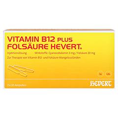 Vitamin B12 Folsäure Hevert Amp.-Paare 2x20 Stück N3 - Vorderseite
