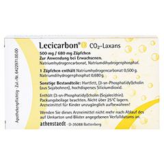Lecicarbon E CO2-Laxans für Erwachsene 10 Stück N2 - Rückseite