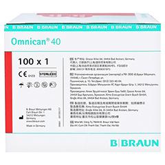 Omnican Insulinspritze 1 ml U40 mit integrierter Kanüle 0,30x12 mm 100x1 Stück - Linke Seite