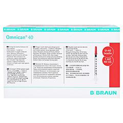 Omnican Insulinspritze 1 ml U40 mit integrierter Kanüle 0,30x12 mm 100x1 Stück - Oberseite