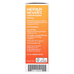 HEPAR HEVERT Lebertropfen 50 Milliliter N1 - Linke Seite