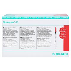 Omnican Insulinspritze 1 ml U40 mit integrierter Kanüle 0,30x12 mm 100x1 Stück - Unterseite
