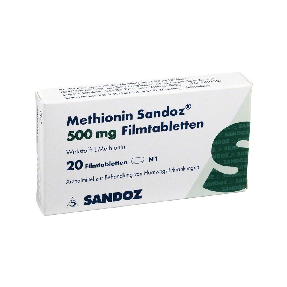 METHIONIN Sandoz 500 mg Filmtabletten 20 Stück online