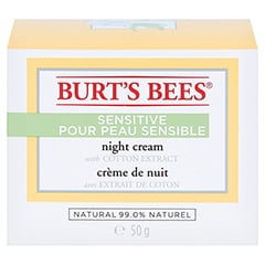 BURT'S BEES Sensitive Night Cream 50 Gramm - Vorderseite
