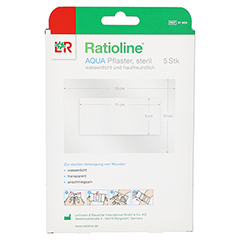 Ratioline aqua Duschpflaster Plus 10x15 5 Stück - Rückseite