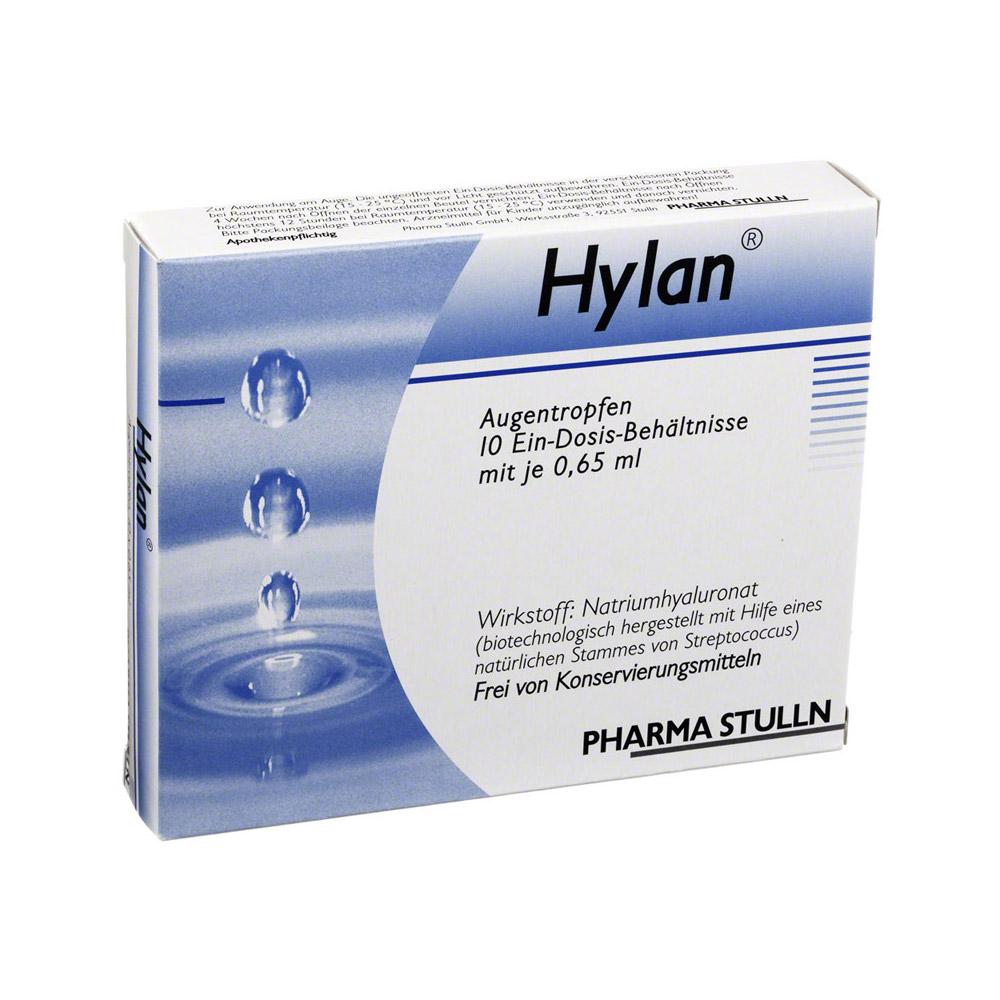 Pharma Stulln GmbH Hylan 0,015% Augentropfen Augentropfen 10 Stück