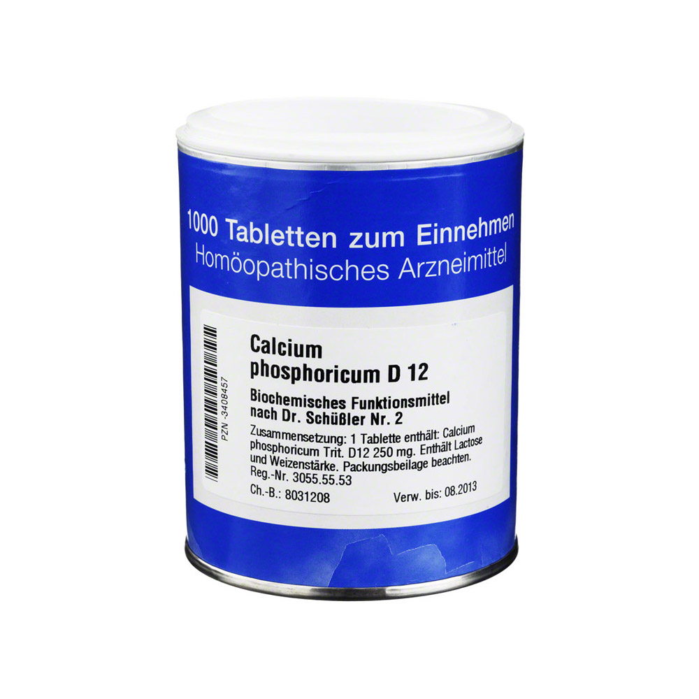 biochemie 2 calcium phosphoricum d 12 tabletten 1000 st ck online bestellen medpex versandapotheke. Black Bedroom Furniture Sets. Home Design Ideas