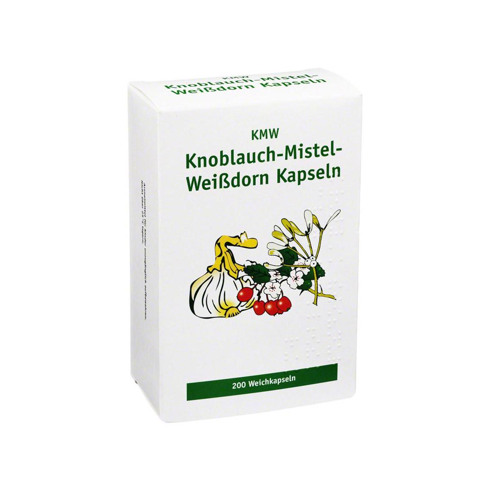 Knoblauch-Mistel-Weißdorn Kapseln 200 Stück