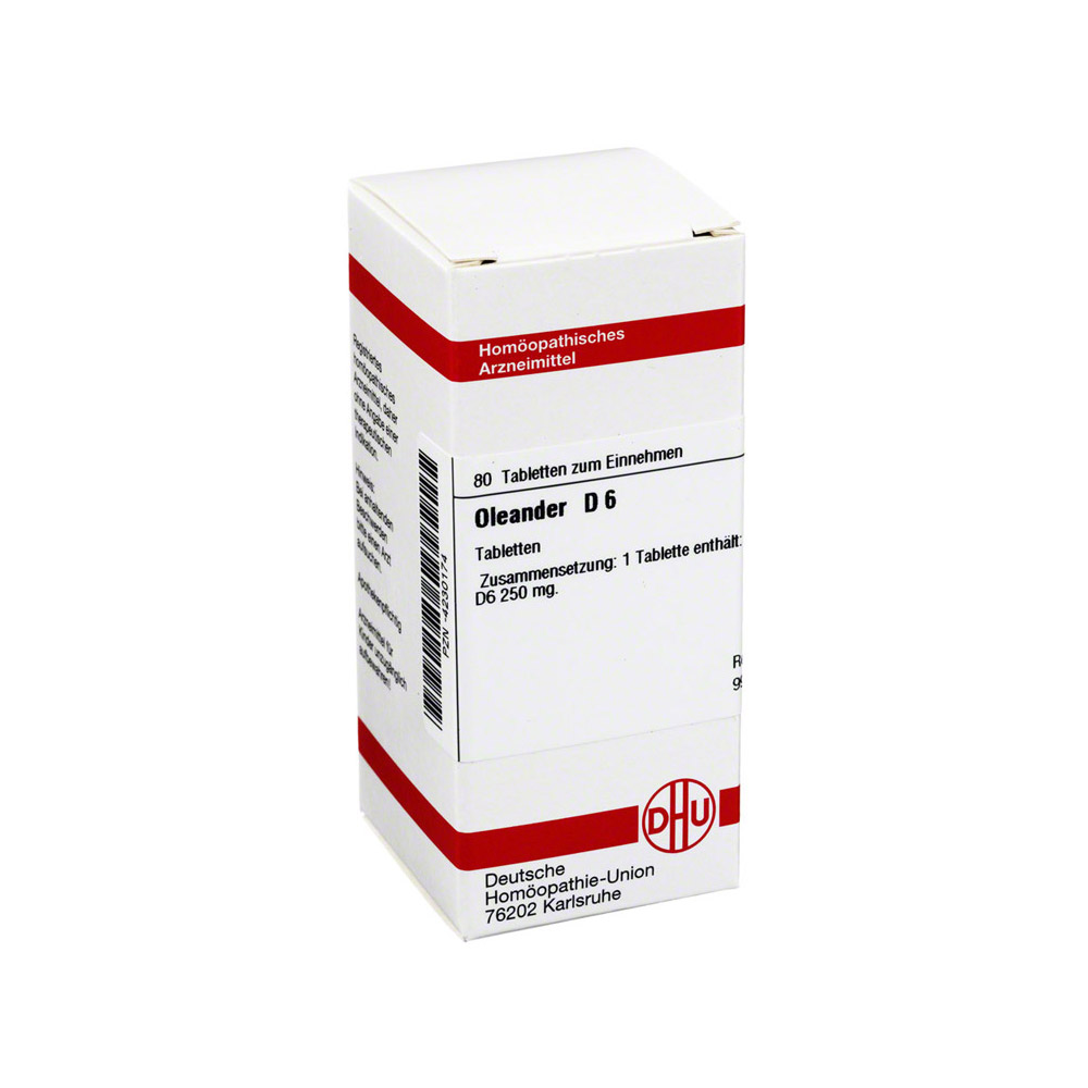 oleander d 6 tabletten 80 st ck n1 online bestellen medpex versandapotheke. Black Bedroom Furniture Sets. Home Design Ideas