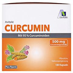 CURCUMIN 500 mg 95% Curcuminoide+Piperin Kapseln 180 Stück - Vorderseite