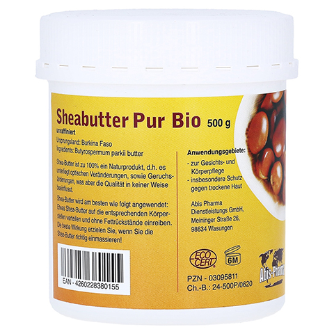 SHEABUTTER Bio Pur unraffiniert Creme 500 Gramm