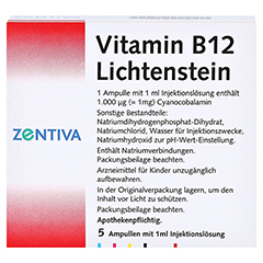 Vitamin B12 1.000 µg Lichtenstein Ampullen 5x1 Milliliter N1 - Rückseite