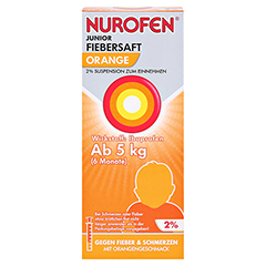 Nurofen Junior Fiebersaft Orange 2% 150 Milliliter N2 - Vorderseite
