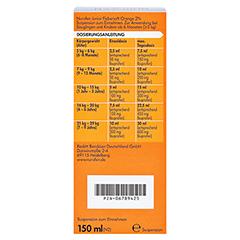 Nurofen Junior Fiebersaft Orange 2% 150 Milliliter N2 - Rückseite