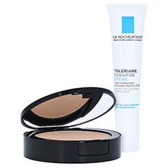 La Roche-Posay Toleriane Mineral Kompakt-Puder Make-up mit LSF 25 Beige Clair Nr. 11 + gratis La Roche Posay Toleriane Sensitive 15 ml 9 Gramm