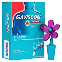 Gaviscon Advance Pfefferminz Dosierbeutel + gratis Gaviscon Zierkorken 24x10 Milliliter N2