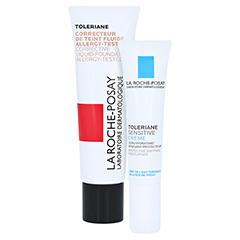 La Roche-Posay Toleriane Korrigierendes Make-up Fluid mit LSF 25 Beige Claire Nr. 11 + gratis La Roche Posay Toleriane Sensitive 15 ml 30 Milliliter