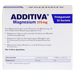 ADDITIVA Magnesium 375 mg Granulat Orange 20 Stück - Rückseite